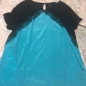 Worthington Blouse Turquoise Size 2X